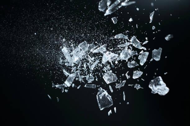 Sharp broken crystals ストックフォト