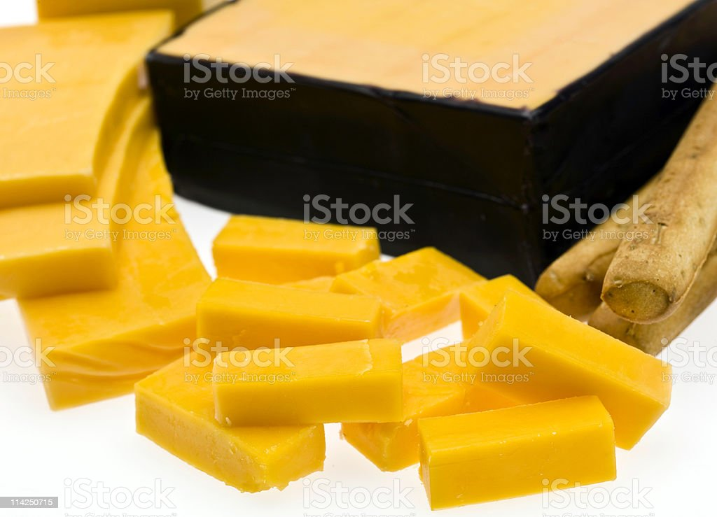 Sharp Cheddar Cheese (Yellow) royalty-free stock photo