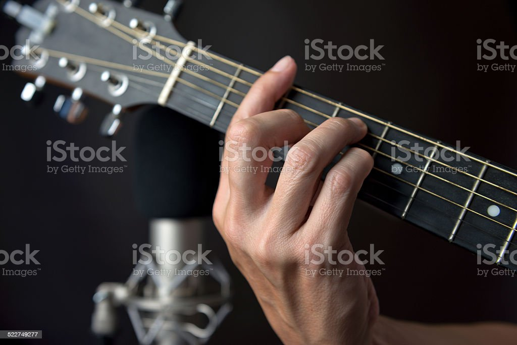 F Sharp Chord Fingering On Guitar Stock Photo & More Pictures of ...