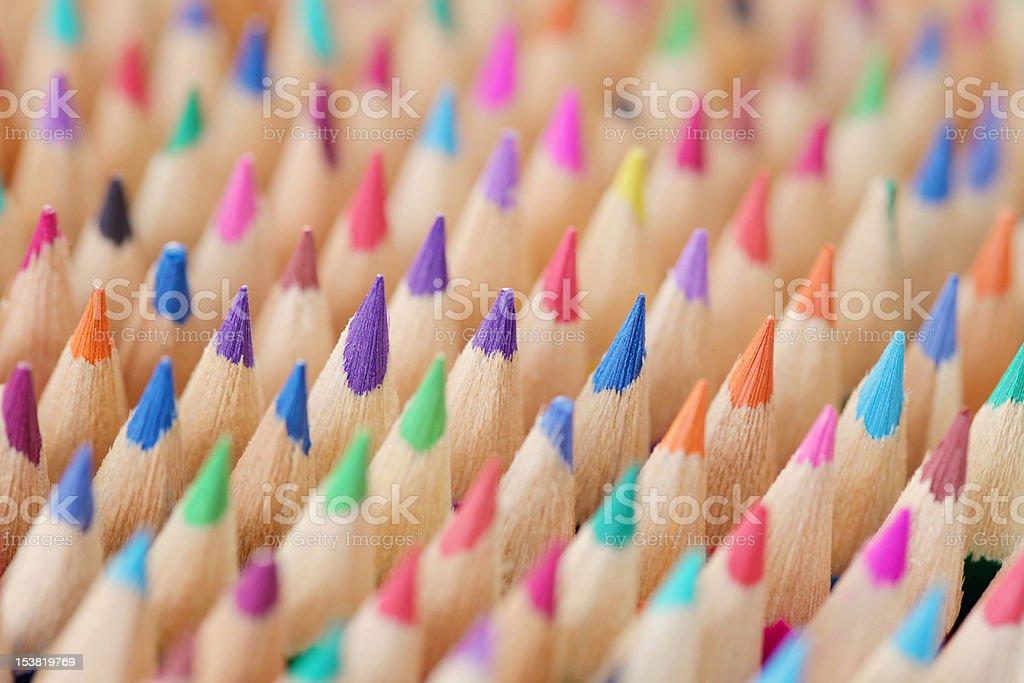 sharp crayons royalty-free stock photo