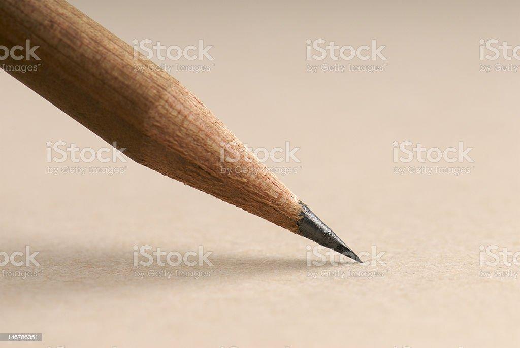 Sharp pencil nib royalty-free stock photo