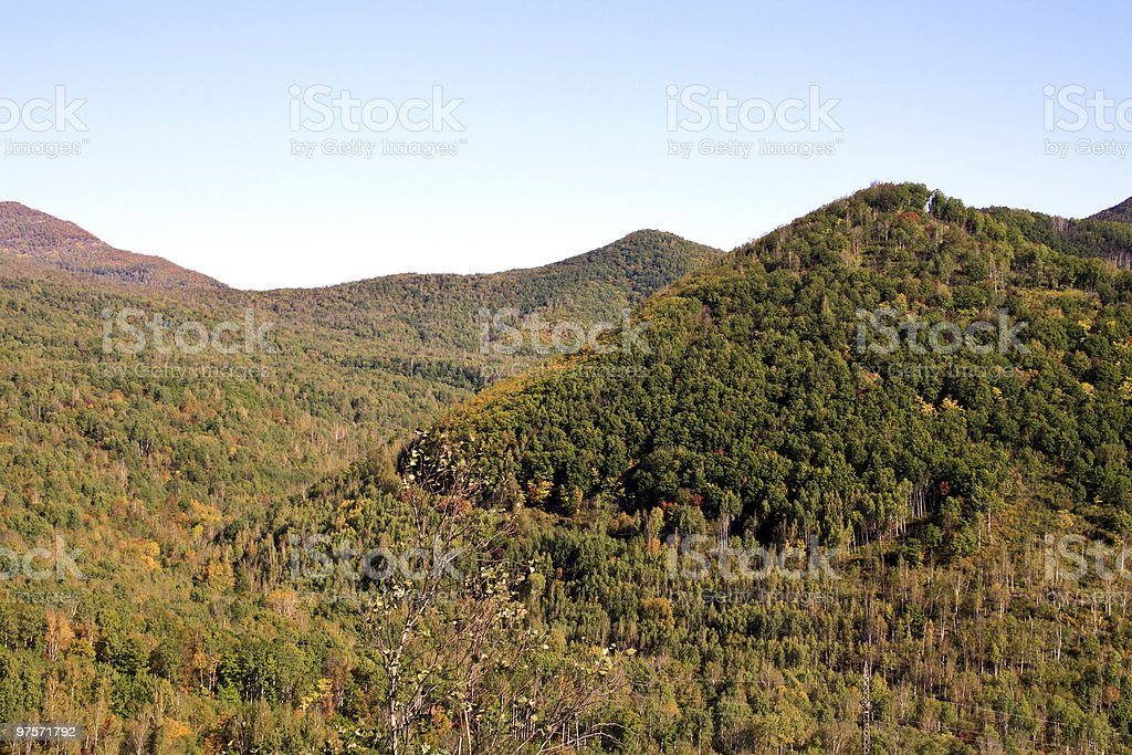 Sharp tops of mountains royalty-free stock photo