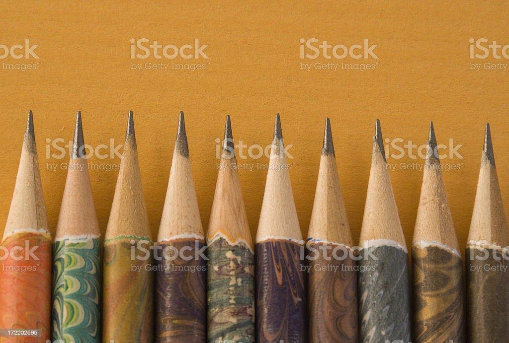 Sharp Venetian Pencils royalty-free stock photo