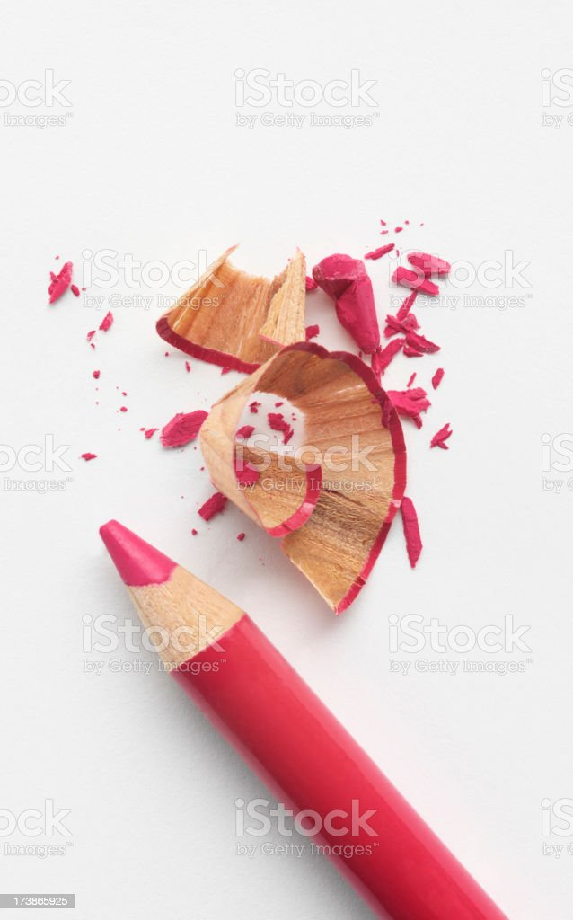 Sharpened Red Lip Pencil stock photo
