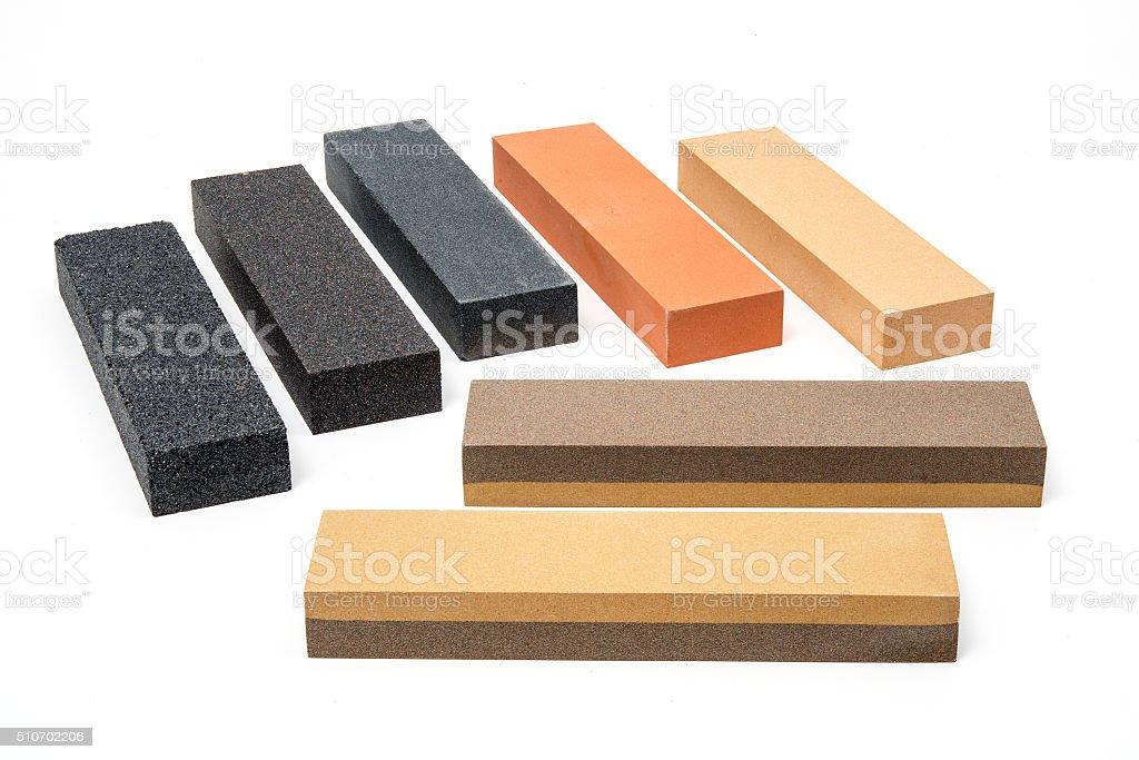 Sharpening stones stock photo
