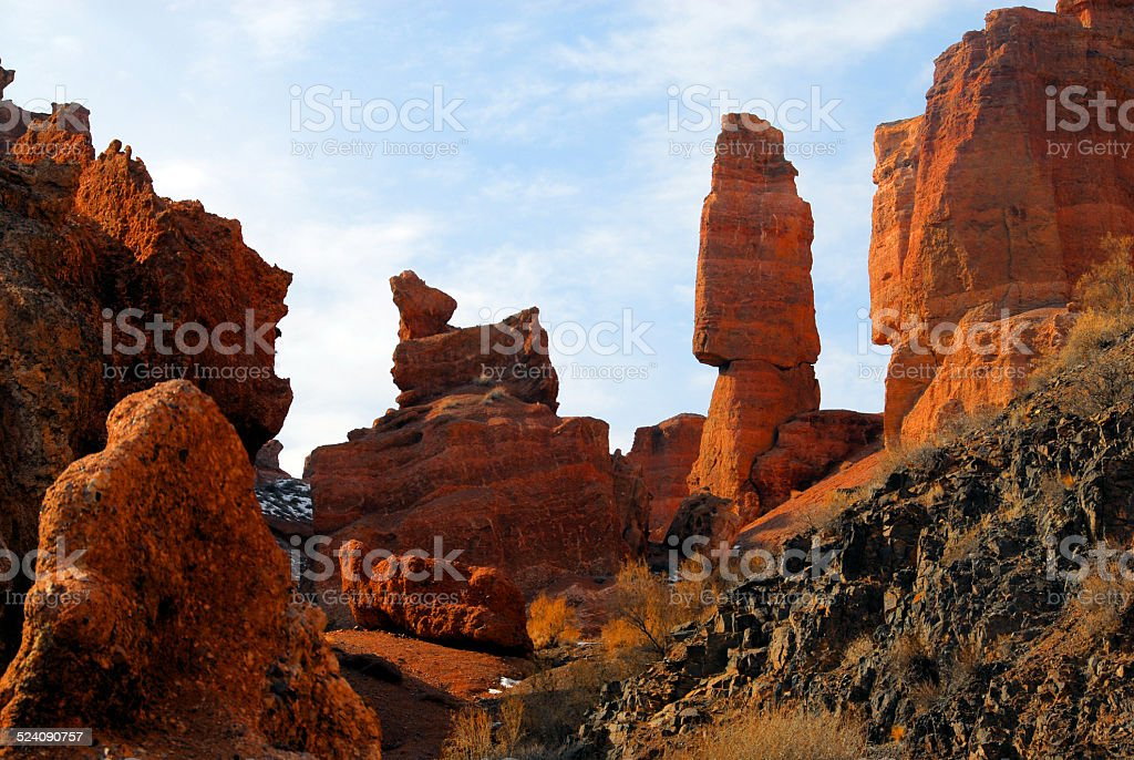 Sharyn Canyon, Kazakhstan stock photo