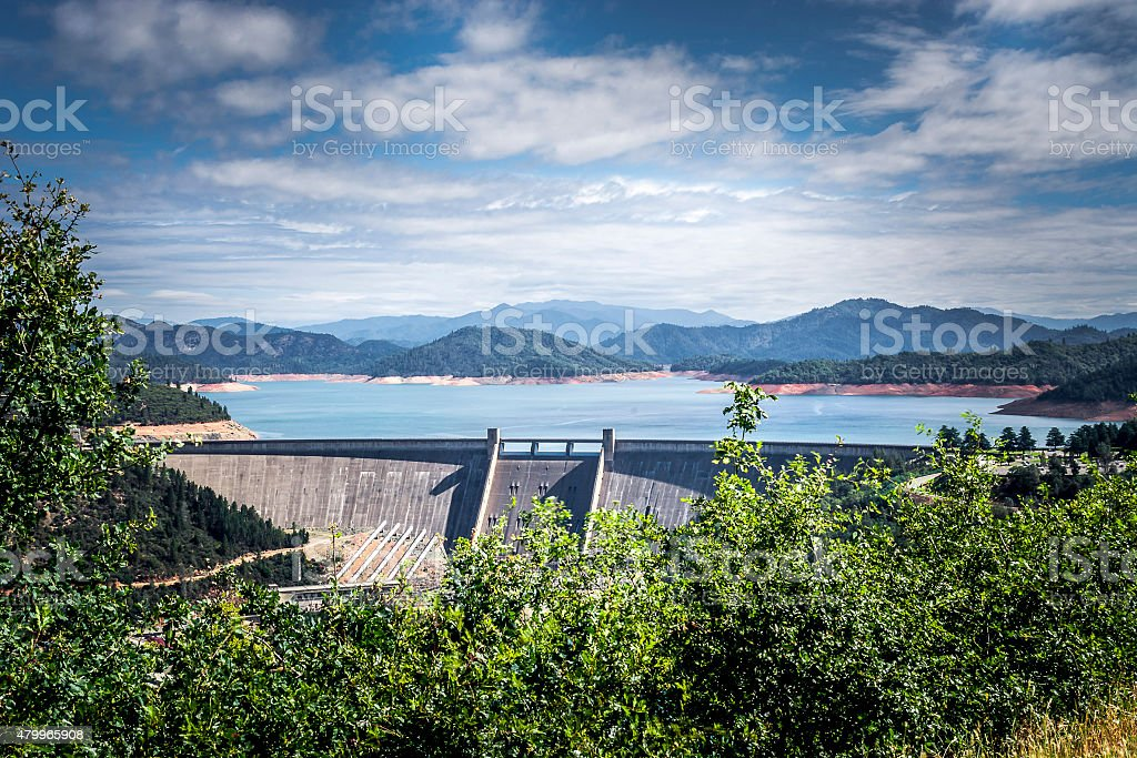 Shasta Dam, the Solution To The Flood stock photo