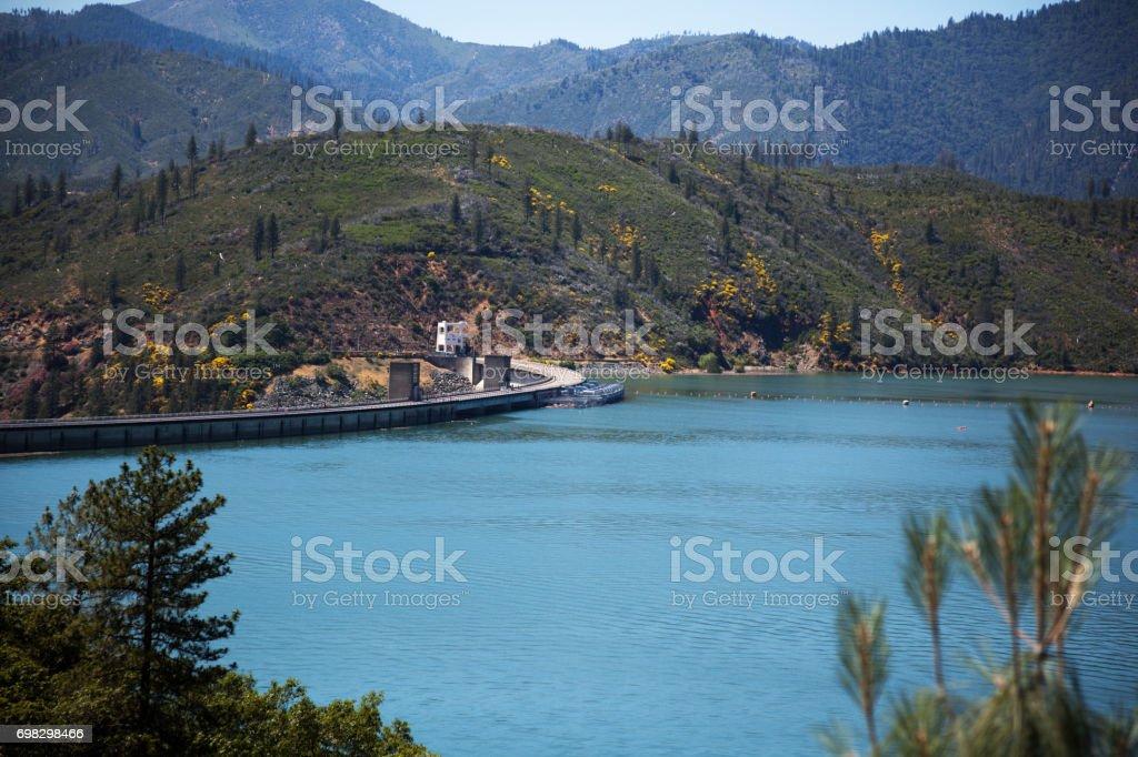 Shasta Lake and Dam stock photo