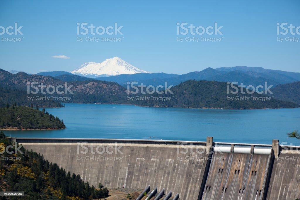 Shasta Lake Dam stock photo