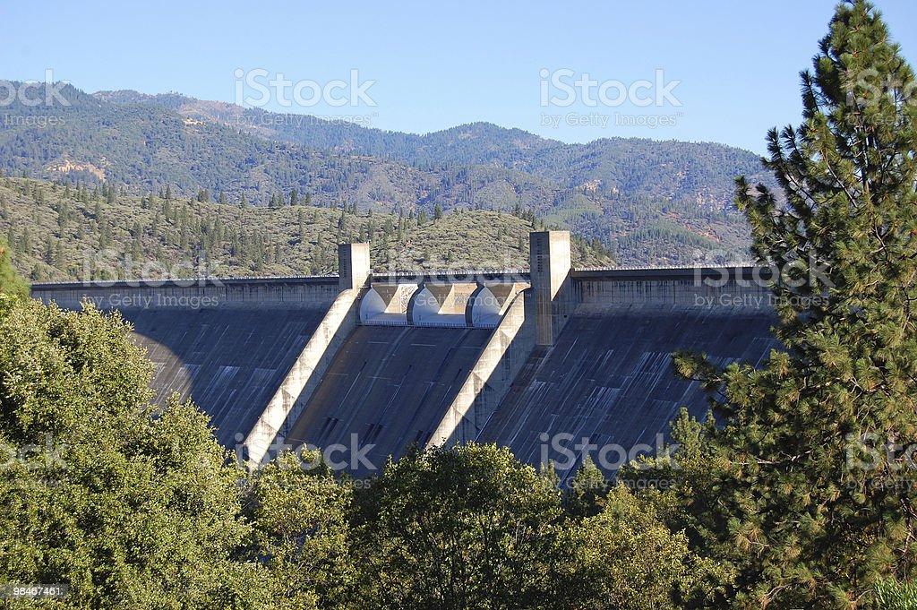 Shasta Lake Dam royalty-free stock photo