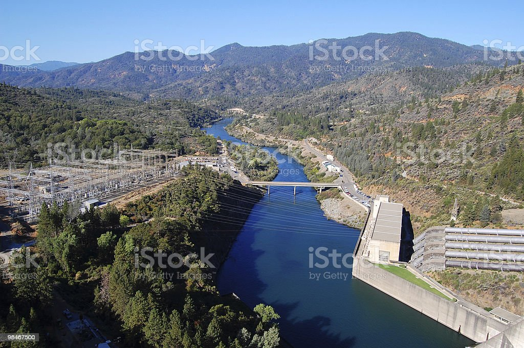 Shasta Lake Dam Power Plant royalty-free stock photo