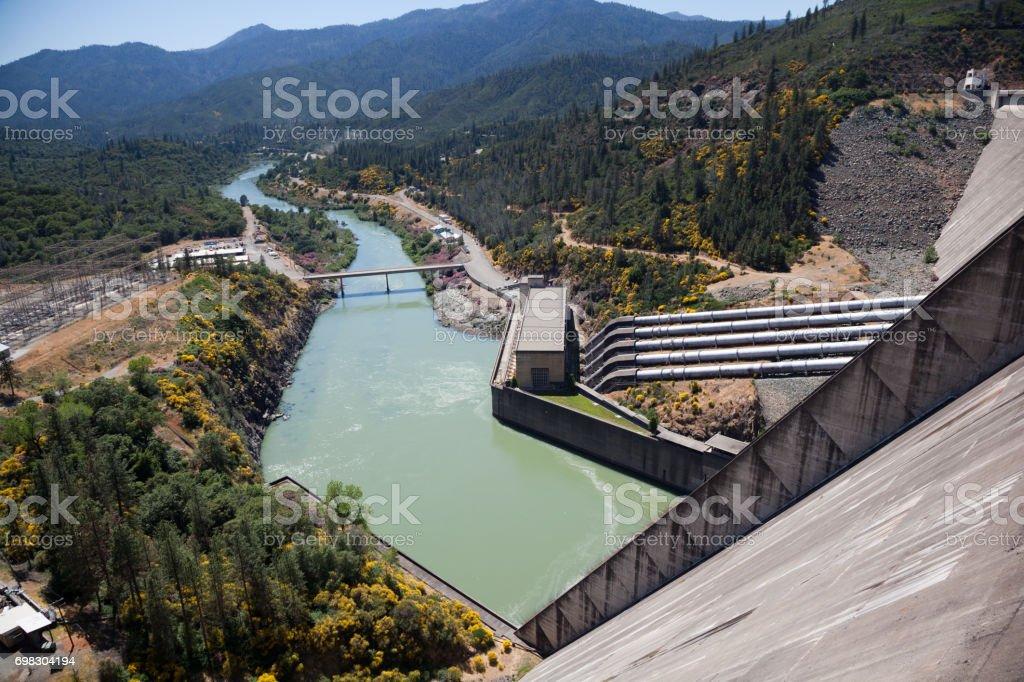 Shasta Lake Hydroelectric Power Plant 2017 stock photo