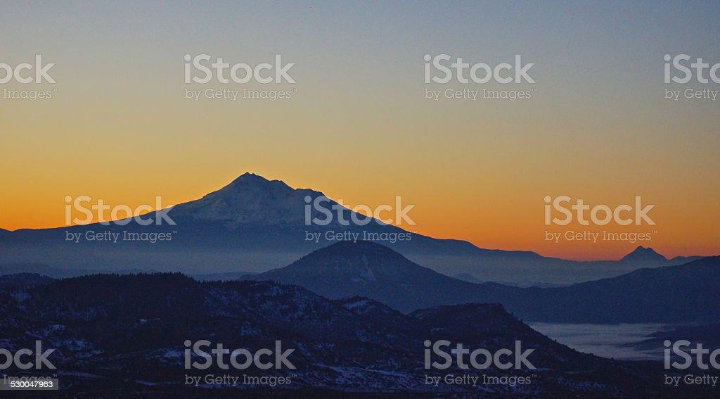 Shasta/Siskiyou Sunrise stock photo