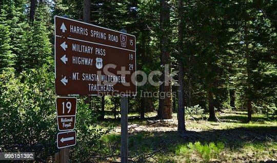Northern California's Cascade Range. Shasta-Trinity National Forest Zone. Mt. Shasta Wilderness/East Edge.