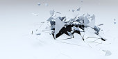 Render of 3D Shatter Abstract Wallpaper Background
