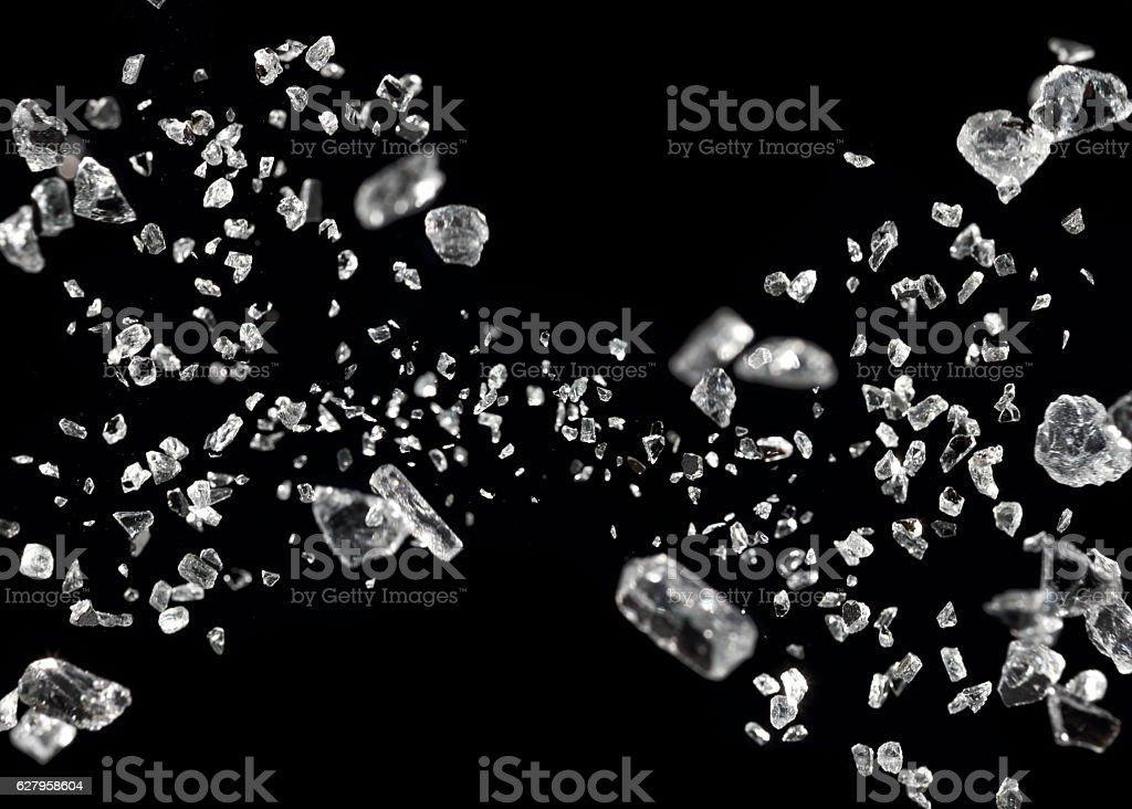 shattered glass in motion - foto de stock
