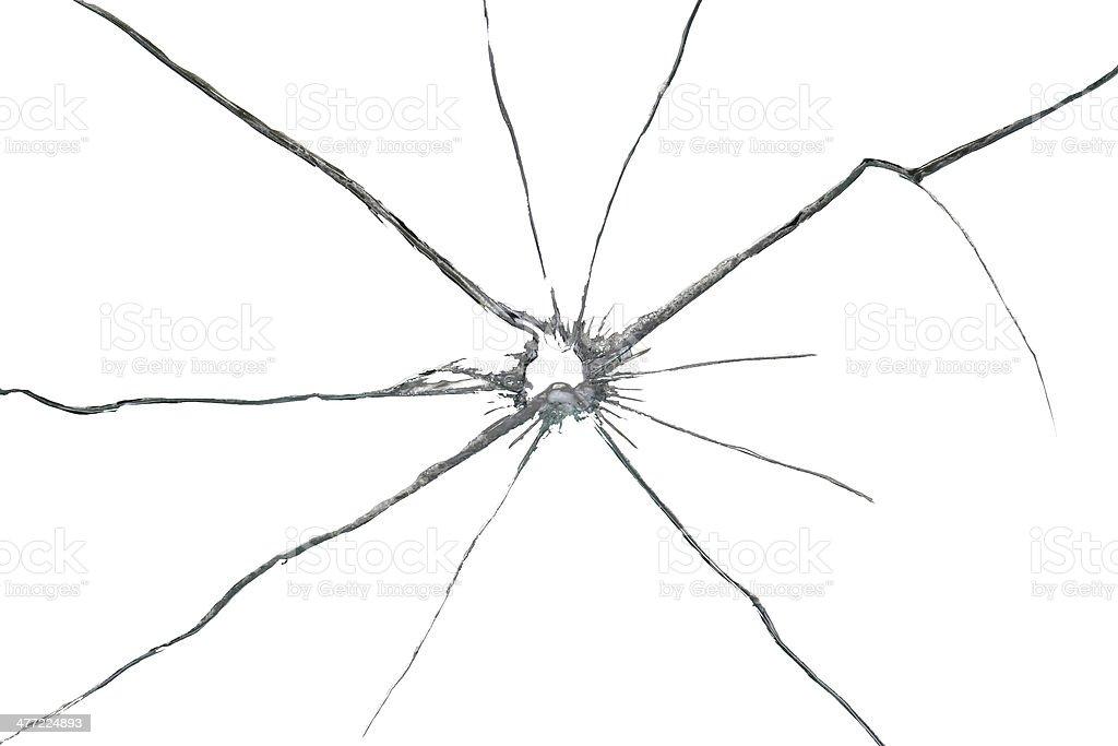 Vetro Rotto Isolato Su Sfondo Bianco Fotografie Stock E Altre