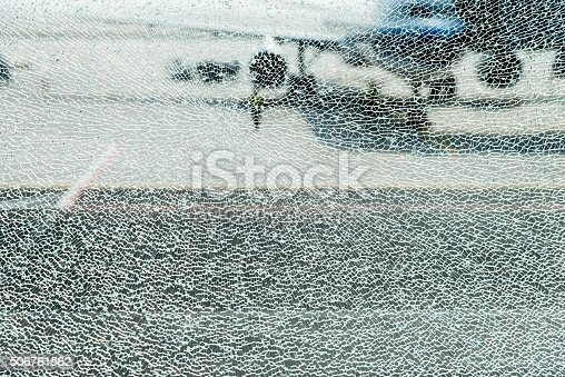 istock Shattered glass window 506761562