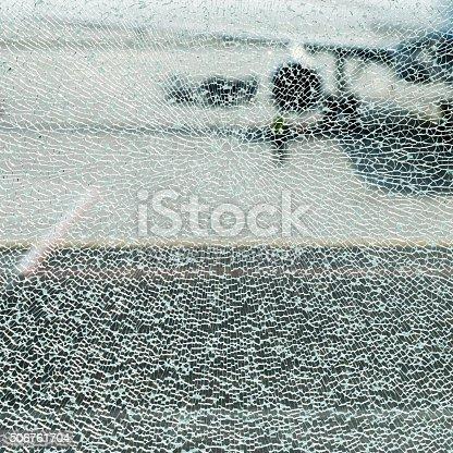 istock Shattered glass window 506761704