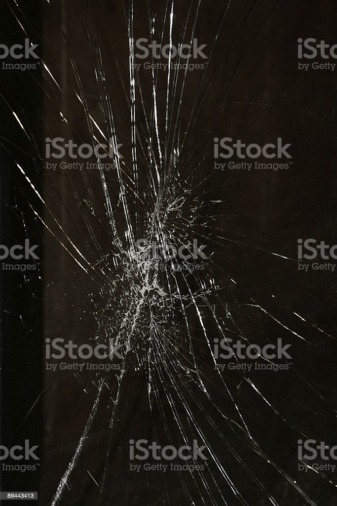 Shattered Glass Window royalty-free stock photo