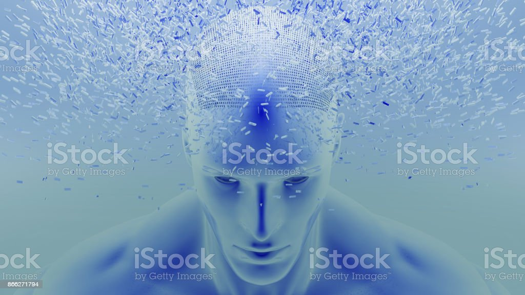Shattered Head stock photo