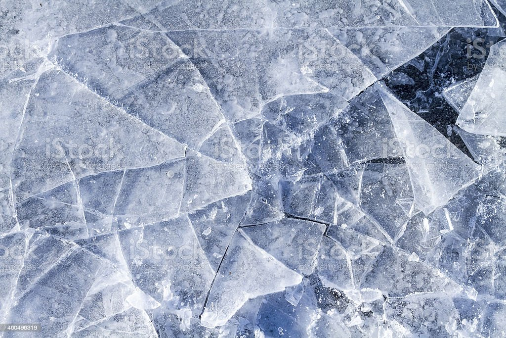 Shattered ice stock photo