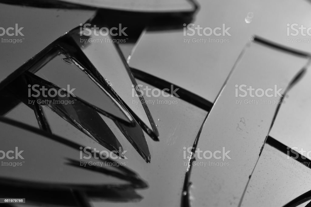 Shattered Mirror royalty-free stock photo