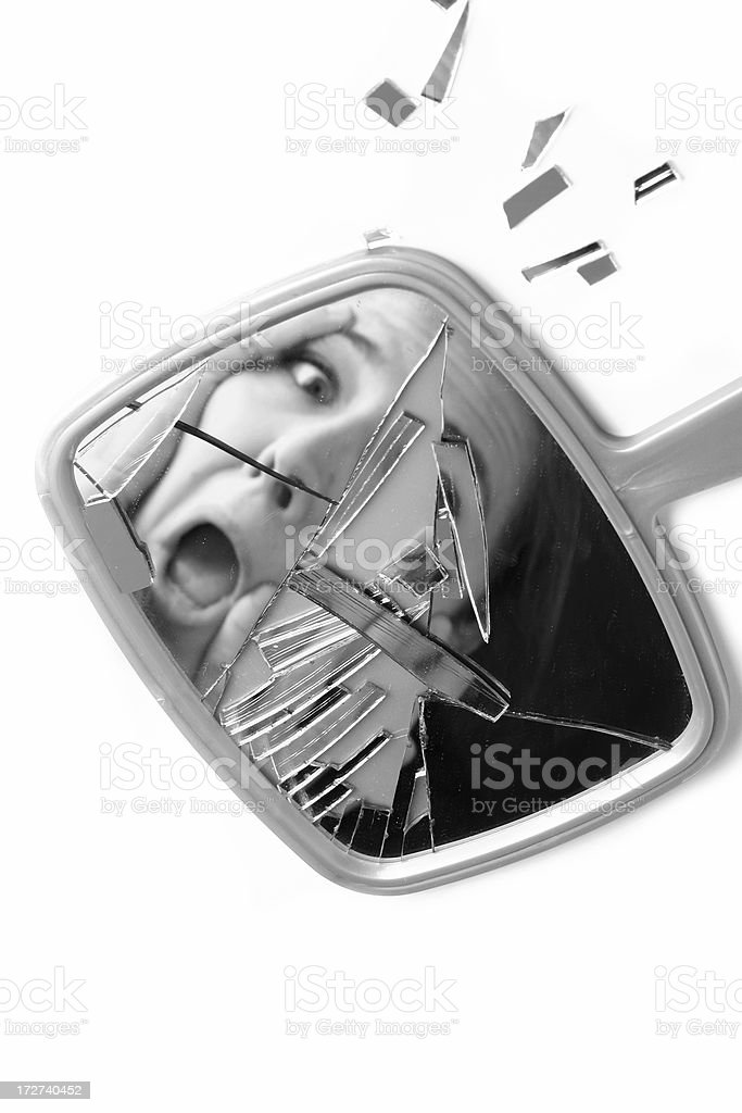 Shattered Mirror Scare royalty-free stock photo