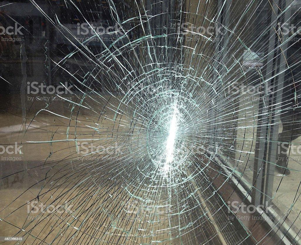 Shattered Window stock photo