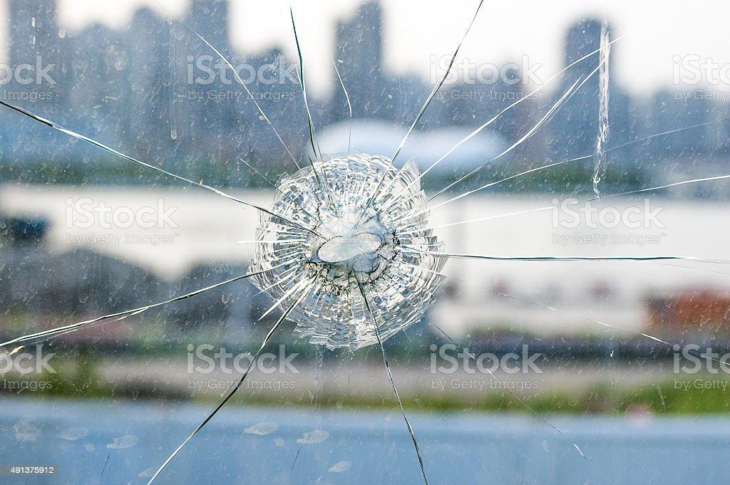 Shattered Windshield stock photo
