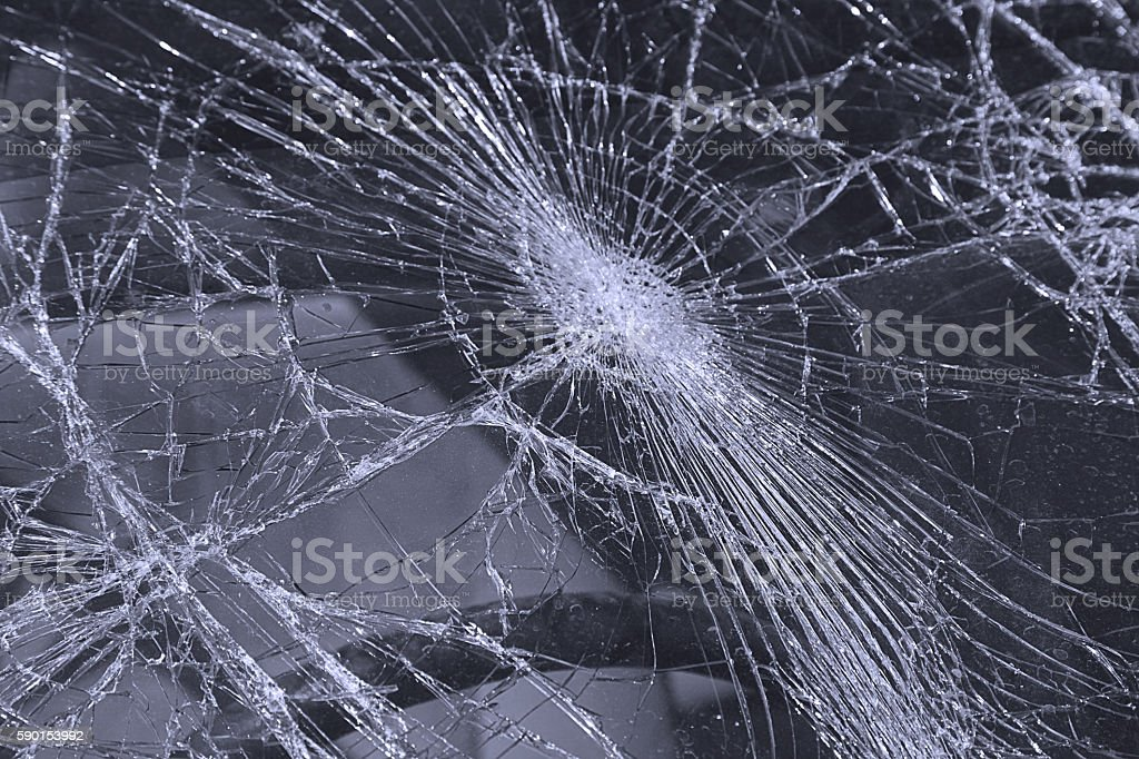 Shattered Windshield stock photo