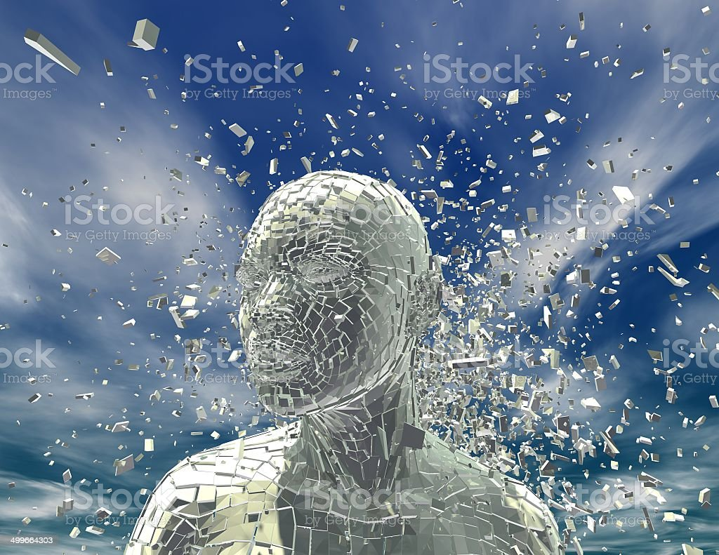 shattered woman stock photo
