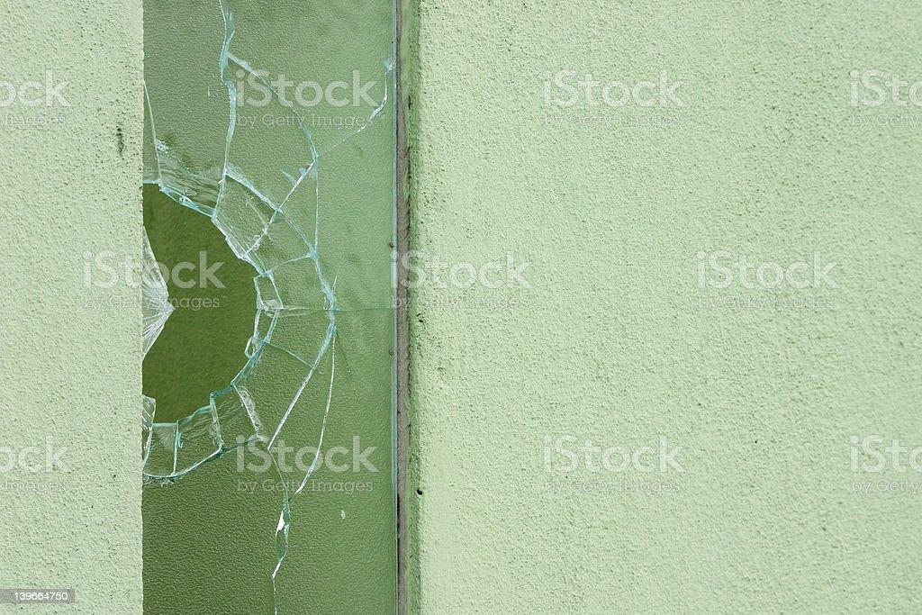 Shattered/Vandalism royalty-free stock photo