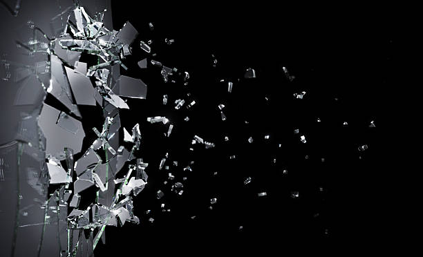 shattering glass - glass stock photos and pictures