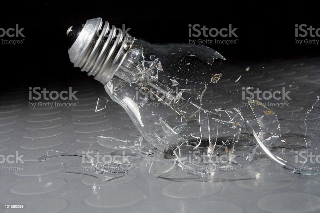 Shattering Light Bulb royalty-free stock photo