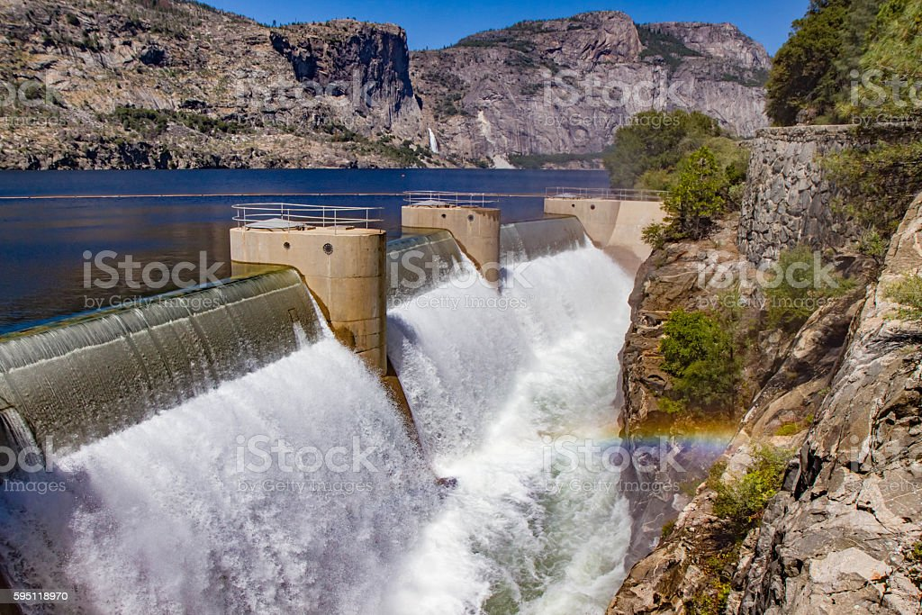 O'Shaughnessy Hetch Hetchy Dam Yosemite National Park stock photo