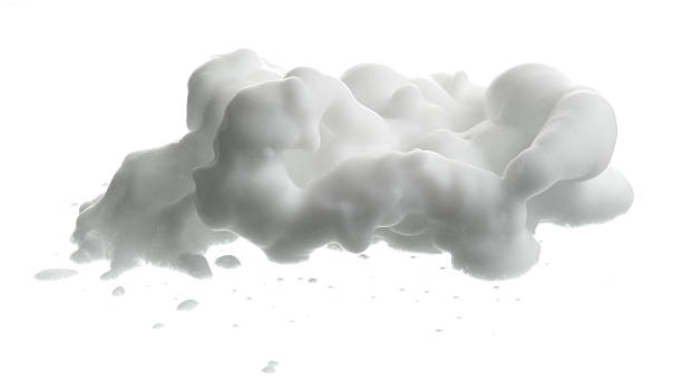 shave foam (cream)  isolated on white - shaving cream stock pictures, royalty-free photos & images