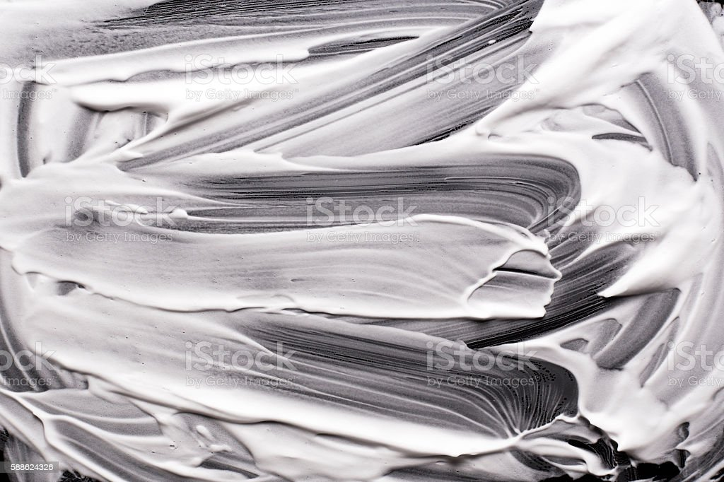 Shave foam or cream isolated on black background stock photo