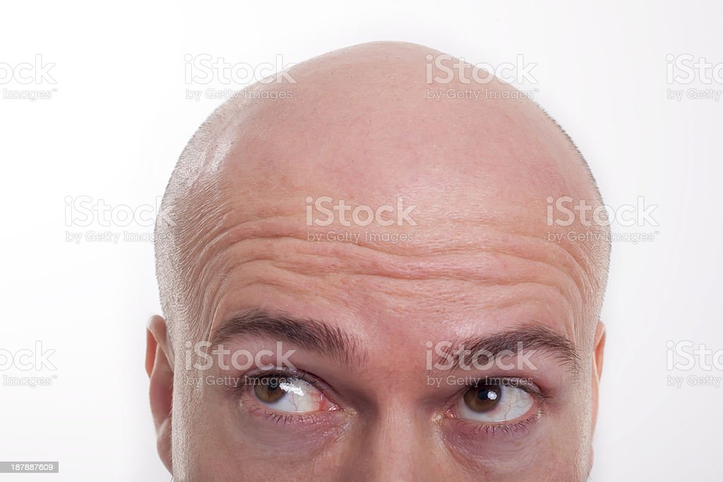 Shaved Head 1 stock photo