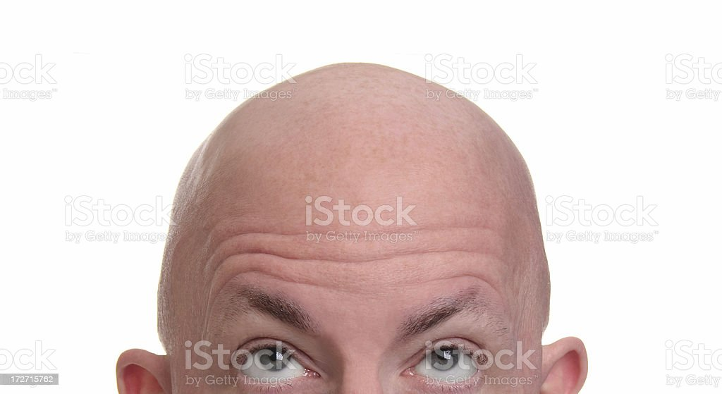 Shaved Head stock photo