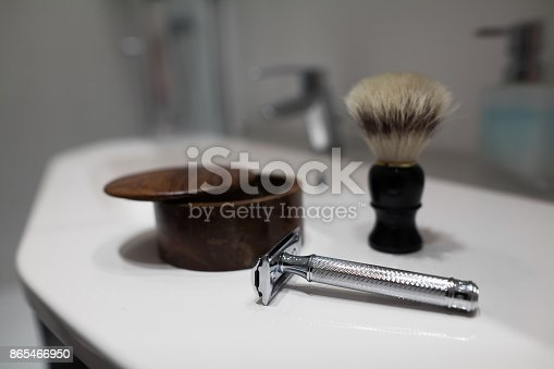 istock Shaving accessories 865466950