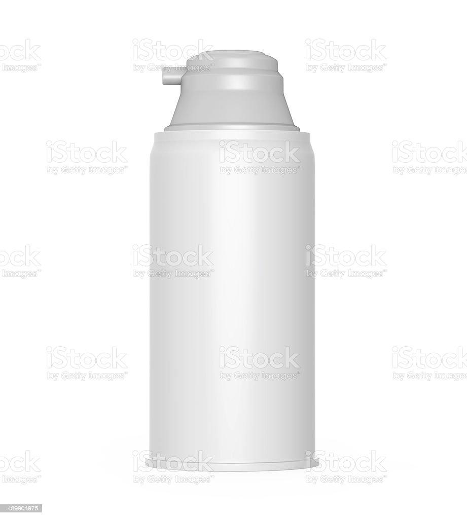 Shaving Cream Bottle stock photo