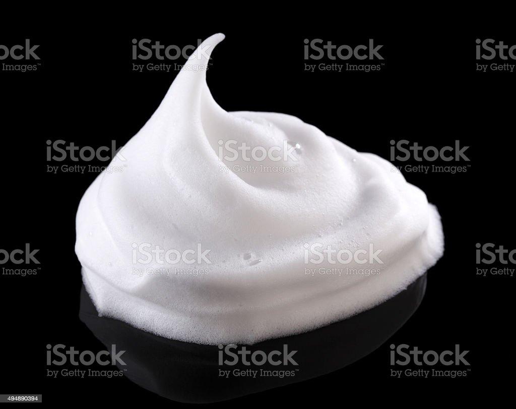 Shaving cream on black stock photo