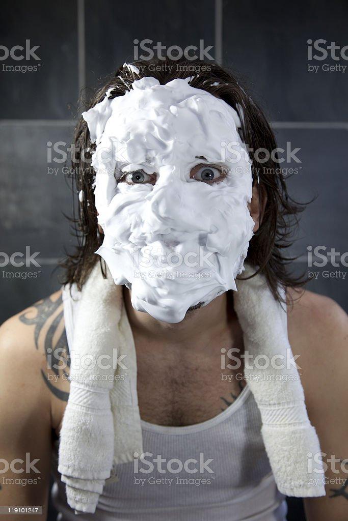 Shaving Disaster stock photo