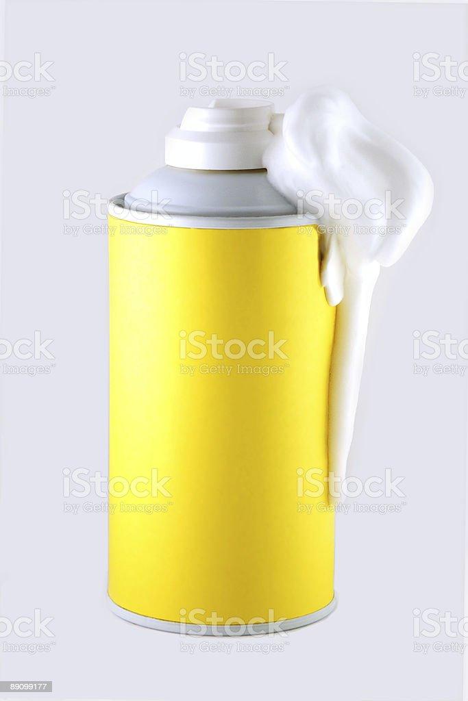 Shaving foam can stock photo
