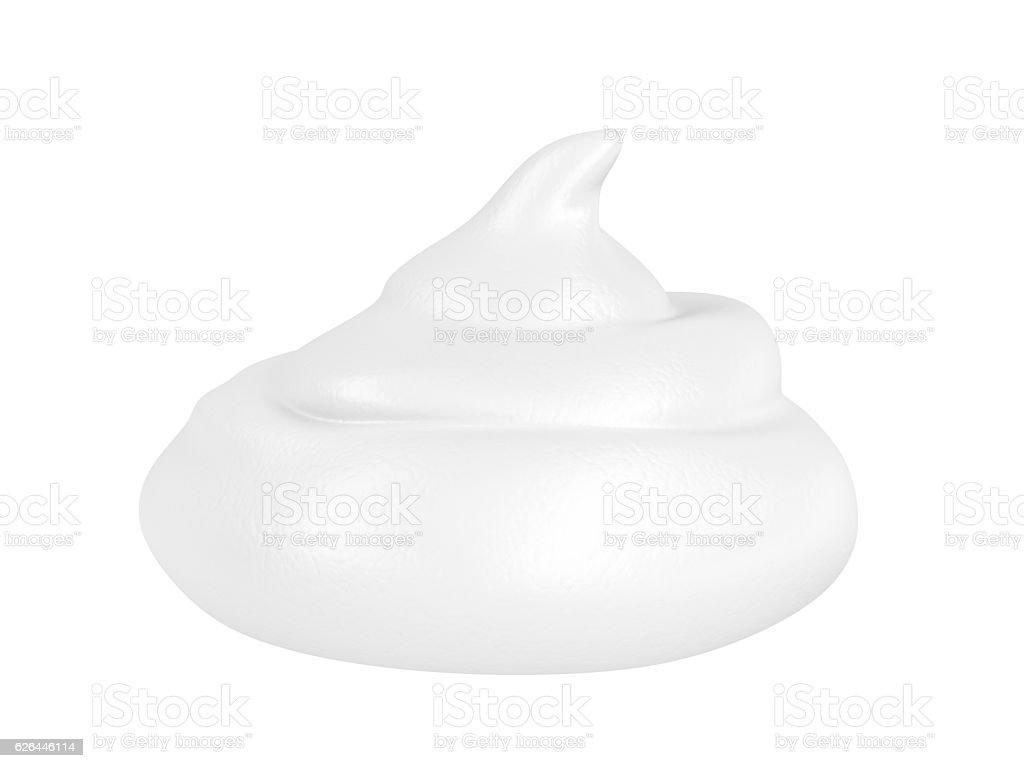 Shaving foam stock photo