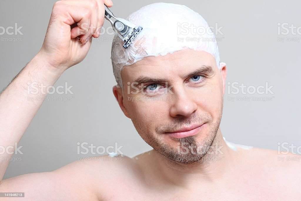 Shaving head stock photo