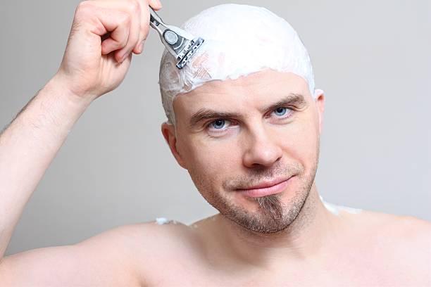 Shaving head stock photo
