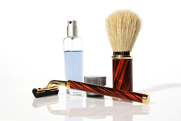 shaving kit stock photo