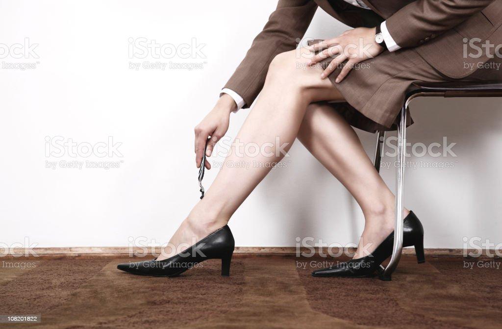 shaving legs royalty-free stock photo